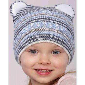 Весенняя вязаная шапочка 50-52 см обхват на мальчика 3-4 года