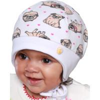 Весенняя белая шапочка с завязками для младенца 1 до 12 месяцев