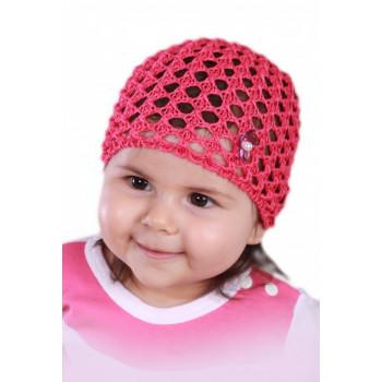 Красная шапочка-сеточка Бусинка 48-50 размер для девочек