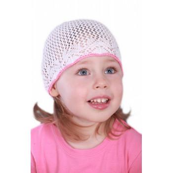 Белая шапочка-сеточка 52-54 размер для девочек