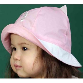 Панамка с ушками Розовая Полианна Обхват: 46 48 50 52 для девочек
