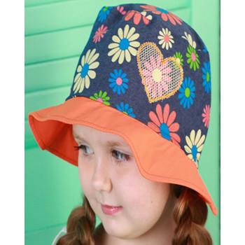 Панама в цветочек Динара 48 50 52 54 см обхват для девочек
