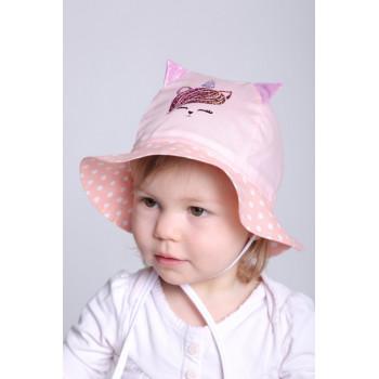 Панама Розовая Зоряна 50 52 см обхват для девочек
