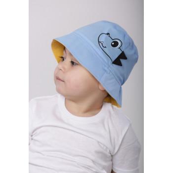 Детская голубая панама Дино 52 см обхват