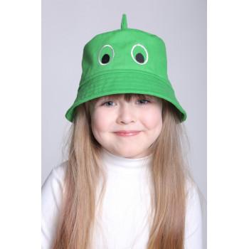 Детская зеленая панама Шарк 50-52 и 52-54 см обхват