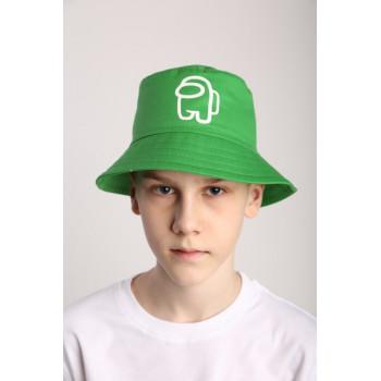 Детская зеленая панама для мальчика 3 4 5 6 7 лет, обхват 50-52 и 52-54 см