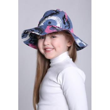 Летняя шляпка для девочек Карина Обхват головы 52 54 56 см
