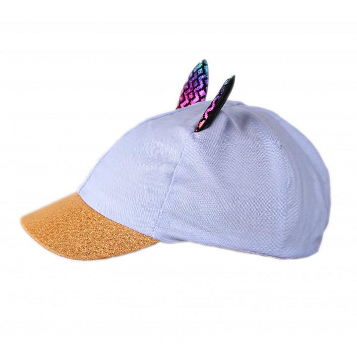 Голубая кепка с ушками 48-50 и 50-52 размер для девочек