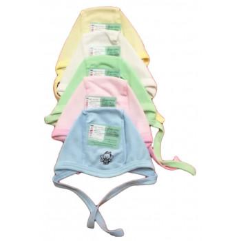 """Теплые (футер) цветные чепчики """"Бабочка"""" для новорожденных. Обхват головы 36 и 40 42 44"""