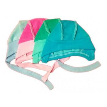 Велюровые цветные шапочки в роддом 0-1 месяц ребенку
