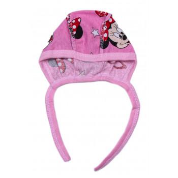 Чепчик Минни Маус Розовый для новорожденных девочек в роддом