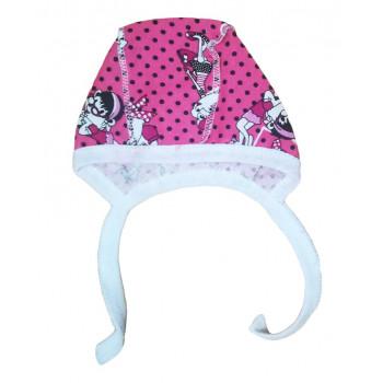 """Чепчик """"Леди"""" из тонкой ткани кулир для новорожденных"""