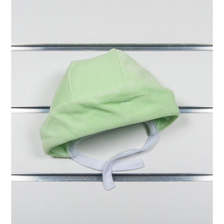"""Велюровые шапочки """"Соня"""" для малышей. Обхват 42 см"""