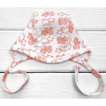 Теплый чепчик с завязками 56 62 68 под подбородком для новорожденных