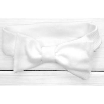 Молочная повязка с бантиком на девочку от 6 месяцев