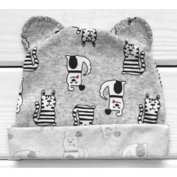 Шапочка с ушками для новорожденных Друзья