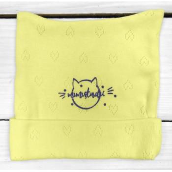 Шапочка 56 62 размера Желтая Рибана для малышей
