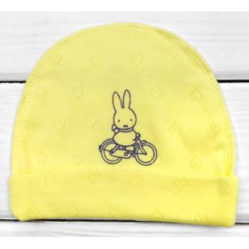 Шапочка Желтая Рибана в роддом для новорожденных