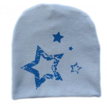 "Серая двойная детская шапочка ""Звезда"""
