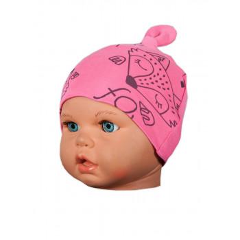 """Детские шапочки с интерлока """"Момо"""" для девочек Обхват головы 36 44 46 48"""