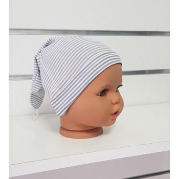 Летняя шапочка 36 см обхват с узелком для новорожденных