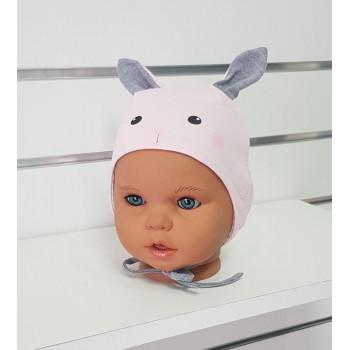 Тонкие шапочки 40-42 см обхват для девочек Лунтик