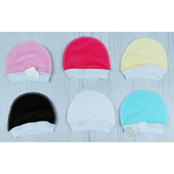 Велюровые цветные шапочки для малышей