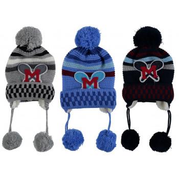 Акриловые зимние шапочки на мальчика 1-3 года