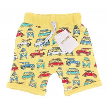 Шорты желтые для мальчиков 92 98 104 размеры Машинки