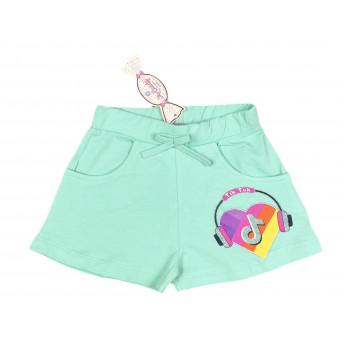 Мятные шорты Тик-Ток для девочек 98 104 116 122 размеры