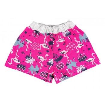 Детские красные шорты 122 размера Фламинго