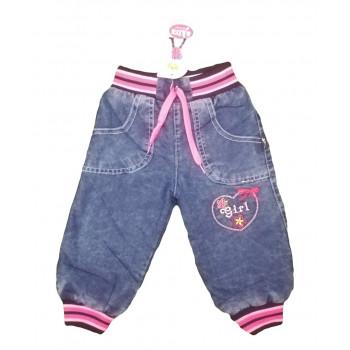 Зимние джинсы на флисе для девочек. Размеры 80 86 92. Замеры в описании