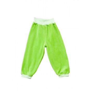 Велюровые салатовые штаны 74 86 размера на ребенка 9-12 месяцев и 2 года