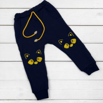 Детские Темно-синие штаны Енот Футер 98 110 122 размеры