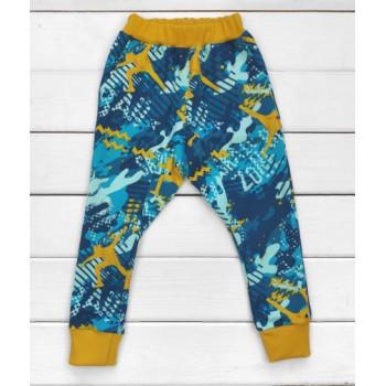 Теплые из футера штаны 98 104 110 размеры для мальчика