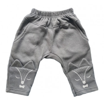 Детские серые штаны с начесом 80 92 98 размеры