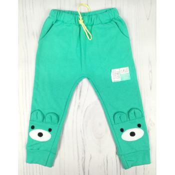 """Тепленькие бирюзовые штаны """"Мишка"""" Размер 104"""