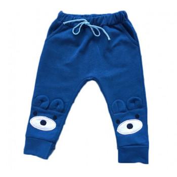 """Тепленькие из футера синие штаны """"Мишка"""" 74 92 98 размеры Замеры в описании"""