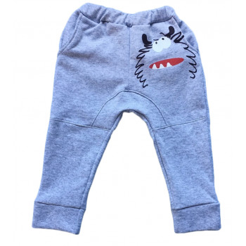Теплые модные штаны с рисунком на попе 110 размеры