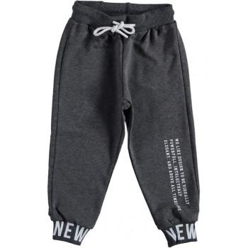 Серые штаны двунитка детские на возраст 1 2 3 4 года