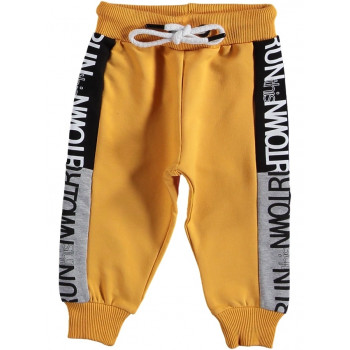 Трикотажные штаны желтые для мальчика 5 6 7 8 лет