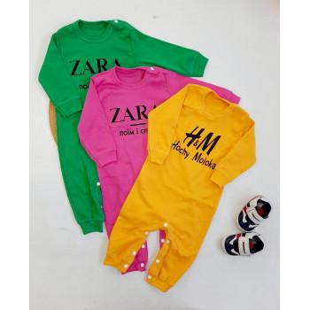 Человечек ZARA - Поїм і спати Розовый Интерлок 86 для девочек