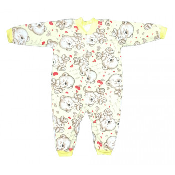 Теплый из байки слип 74 размера для малышей With Love
