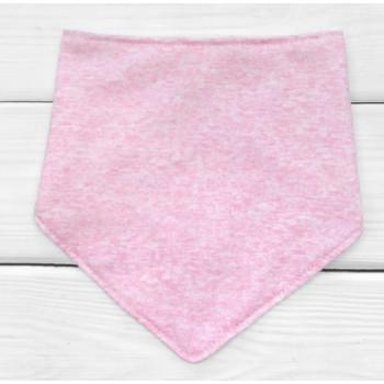 Детский розовый слюнявчик на кнопках