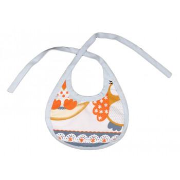 Слюнявчик махровый на завязках для младенцев