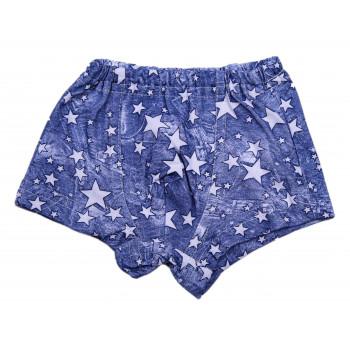 Трусы Борцовки Звезды Синие 116 размер для мальчиков
