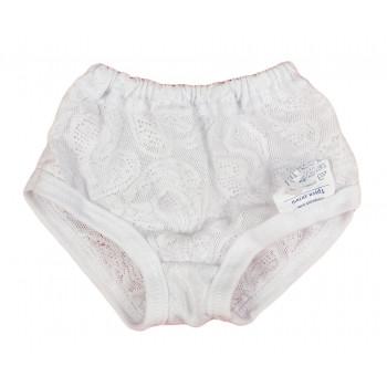 Детские белые ажурные трусики на 2 года 92 размер