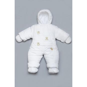 Белый зимний комбинезон для малышей. Размеры 62 68 74