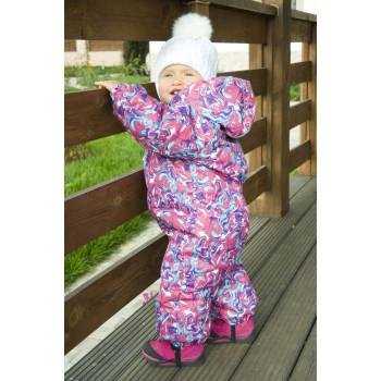 Зимний цельный комбинезон на девочку 1, 2, 3 года. Размеры 80 86 92