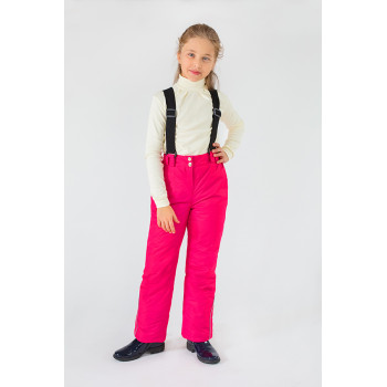 Зимние штаны с лямками на девочку 5 6 7 8 9 лет